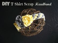 Learn how to make your own DIY T-Shirt Scrap Headband - Short Cut Saver