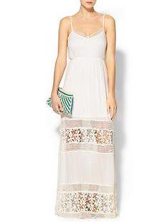 Ark & Co. Crochet Inset Maxi Dress   Piperlime