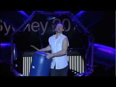 Ben Walsh and his Wheel of Drums...  DRUM wheel = DRUM workout!
