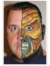 half monster face!