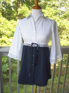 Black & White Striped Tunic Top