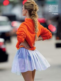 tutu skirts, fashion, tulle skirts, han feurer, maryna linchuk, mini skirts, girl hairstyles, braided hairstyles, summer hairstyles