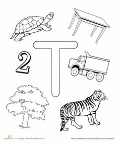 Worksheets: T Is For...
