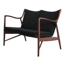 Danish Modern Teak Settee by Designer Finn Juhl.