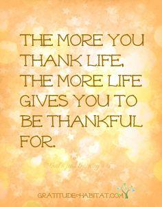 Be thankful. #gratitude #bethankful #thankful #gifts  Visit us at: www.GratitudeHabitat.com