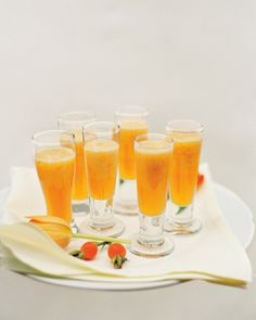 Chilled melon-mint soup