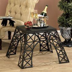 Design Toscano MH11056 Torre Eiffel de metal Mesinha - Home Showroom Móveis