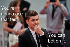 Zac Efron: this will get me through finals