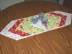 Christmas Quilted Table Runner  Patchwork Table by SarahPixel, $25.00