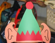 elf hats we made these on polar express day more elf hats craft ...