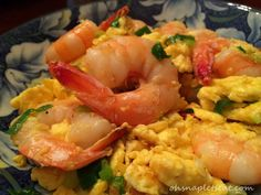 Chinese Stir Fry Shrimp with Eggs #paleo #glutenfree #chinese