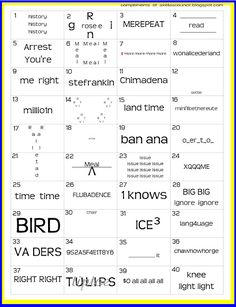 Free word puzzles. I used to love these as a kid. Great critical thinking activity!