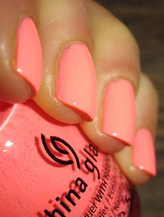 """China Glaze - """"Flip Flop Fantasy"""" I have this and it's my absolute favorite! china glaze coral, nail colors, nail polish coral, china glaze flip flop fantasy, china glaze colors, flip flop fantasy china glaze, coral summer nails, china glaze nail polish colors, summer nails coral"""