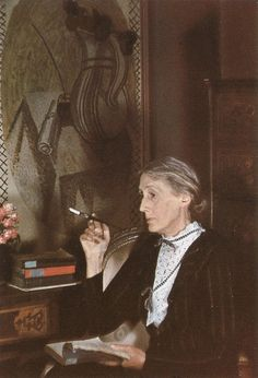 """Virginia Woolf (25 Jan 1882–28 Mar 1941), English writer, and one of the foremost modernists of the 20th century. During the interwar period, she was a significant figure in London literary society and a central figure in the Bloomsbury Group of intellectuals. Her most famous works include the novels Mrs Dalloway, To the Lighthouse, and Orlando, and the book-length essay A Room of One's Own, with its famous dictum, """"A woman must have money and a room of her own if she is to write fiction."""""""