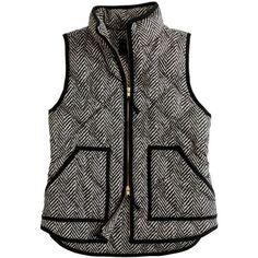 Excursion Quilted Vest In Herringbone