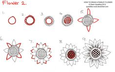 #papercraft #doodling #zentangle How to draw Paisley Flower 02 by *Quaddles-Roost on deviantART