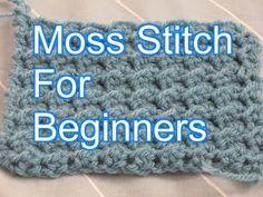 Crochet Moss Stitch - Slow Motion Crochet - YouTube