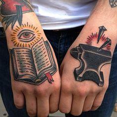 Natalya Lytvynenko as featured on www.swallowsndaggers.com #tattoo #tattoos #handtattoos #handpieces