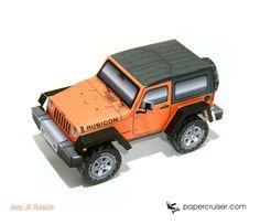 Jeep Rubicon paper model | http://papercruiser.com/?wpsc-product=jeep-wrangler-jk-rubicon