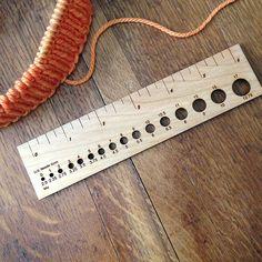 Wooden gauge ruler | Fringe Supply Co.