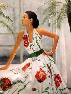 Enka Rayon in Joseph Whitehead dress, 1950