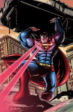 Superman Man of Steel in Color by SachaLefebvre.deviantart.com on @deviantART