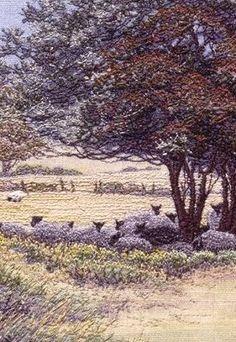 PAINTERLY: Pauline Thomas thread painting
