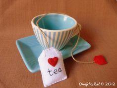 Tea bag felt bookmark