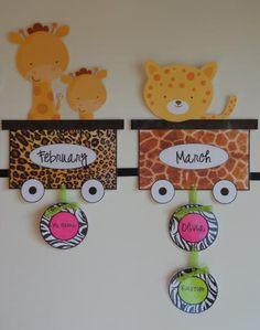 Jungle and Safari Themed Birthday Bulletin Board Idea