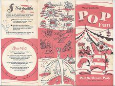 Pacific Ocean Park (P.O.P.) flyer, Santa Monica, California