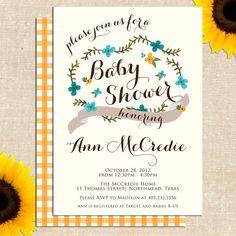 Carolina Baby Shower Invitation DIY PRINTABLE