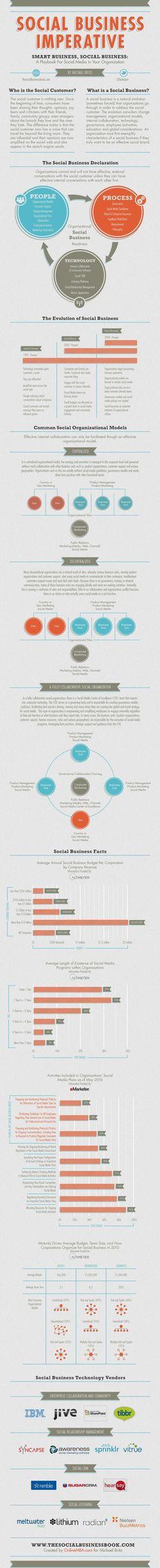 Social business infographics