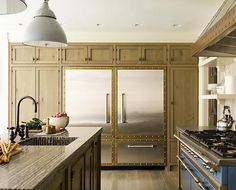 Steven Gambrel modern unique kitchen cabinets, stove, appliances, metal, dream, kitchen cabinetry, stone, brass, countertop