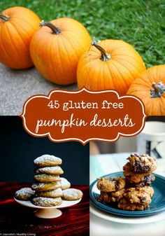 A large collection of gluten free pumpkin dessert recipes. Lots of decadent options in this roundup!
