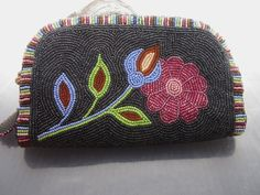 Women's fully beaded purse clutch in a traditional design...by Authentic Native Made, $375.00