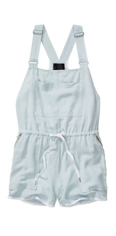 Chambray overall romper