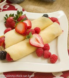Brown Butter Crêpes with Berry and Cheesecake Filling