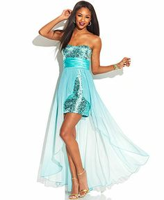 Speechless Juniors' Sequined Illusion Dress
