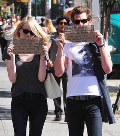 Emma Stone and Andrew Garfield used the paparazzi for good.