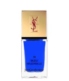 YSL blue nail polish