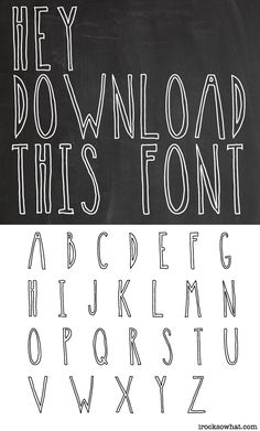 free downloadable font from irocksowhat.com #font #freefont
