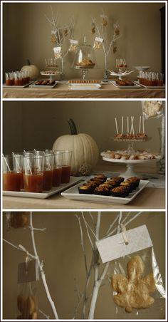 Autumn dessert table