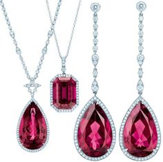 Rubellites and diamonds by Tiffany & Co