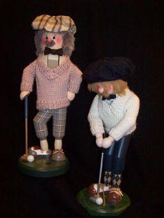 Zim's Heirloom Collectible Nutcrackers ~ Golfers  www.thewhitehurstcompany.com