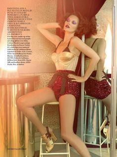 Kate Moss British Vogue October 2013 by Javier Vallhonrat