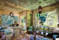 HOW INSANELY COOL IS THIS PORCH? Classic Farm House Design with 18th Century Style – Provençal Farmhouse by Penelope Bianchi
