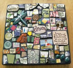 Polymer Clay & Mixed Media Mosaic by Red Crow Arts
