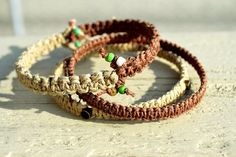 Hemp boho bangles! $17 +shipping! Help fight HIV/AIDS and provide clean drinking water to those struggling in Africa. 10% of each purchase will be donated to Blood:Water Mission.