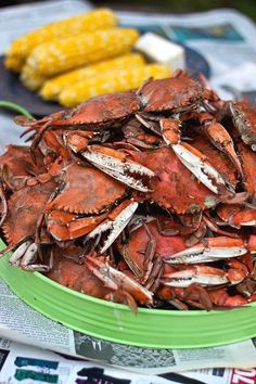 Old Bay seasoned steamed blue crab!