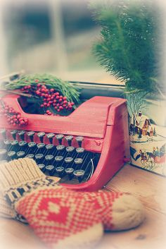 I got a red typewriter for Christmas one year. Wish I still had it.